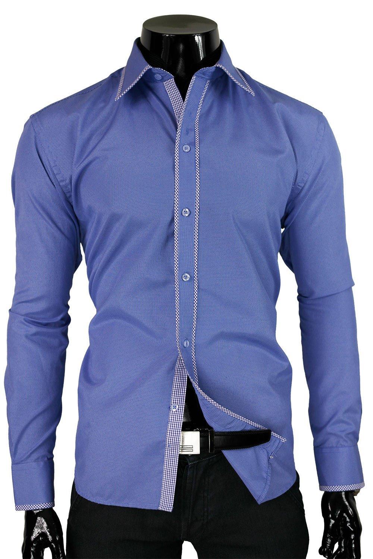 BP TS 227Z Niebieska Kratka Odcień niebieskiego | Koszule  Pl7y4